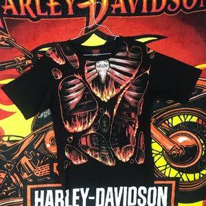 Spiral Direct Fire Skeleton Halloween Shirt Punk